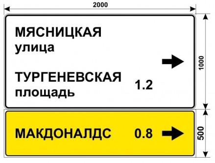 Макет дорожного знака для МАКДОНАЛДС на Мясницкой улице