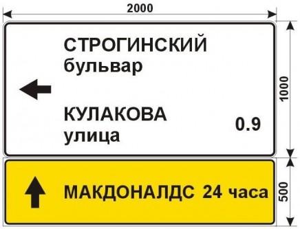 Макеты дорожных знаков для МАКДОНАЛДС на улице Маршала Катукова 4