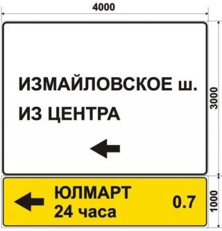 Макет дорожного знака для ЮЛМАРТ 24 часа