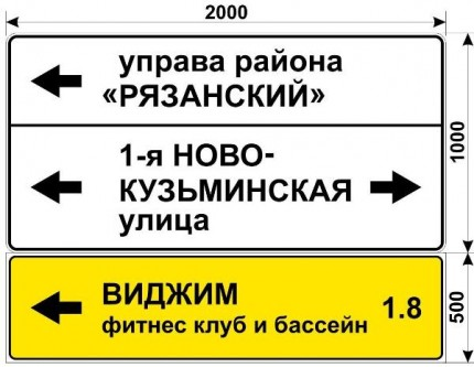 Макет знака на Окской улице для фитнес клуба ВИДЖИМ с бассейном
