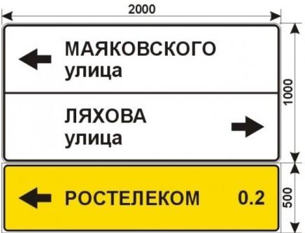 Макеты дорожных знаков для РОСТЕЛЕКОМ 2