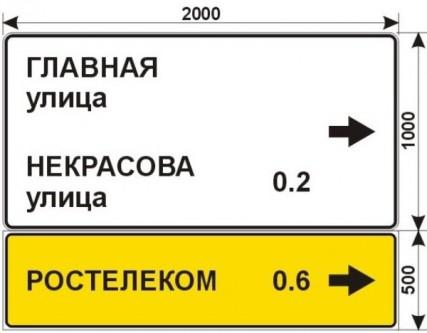 Макеты дорожных знаков для РОСТЕЛЕКОМ 3